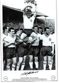 Nat Lofthouse Signed 1958 Bolton Wanderers Fa Cup 12x18