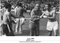 George Cohen Signed 1966 World Cup England 14x20 Photo.