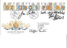 The Queens Beasts Royal Mail FDC PM 24th Feb 1998