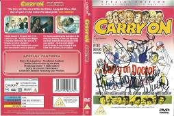Jim Dale and Barbara Windsor signed Carry on Doctor DVD