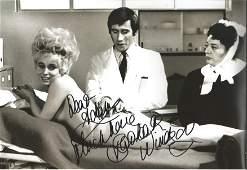 Barbara Windsor signed 12x8 b/w Carry on photo. Good