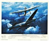 World War Two Print 12X10 titled Gunners Moon by the