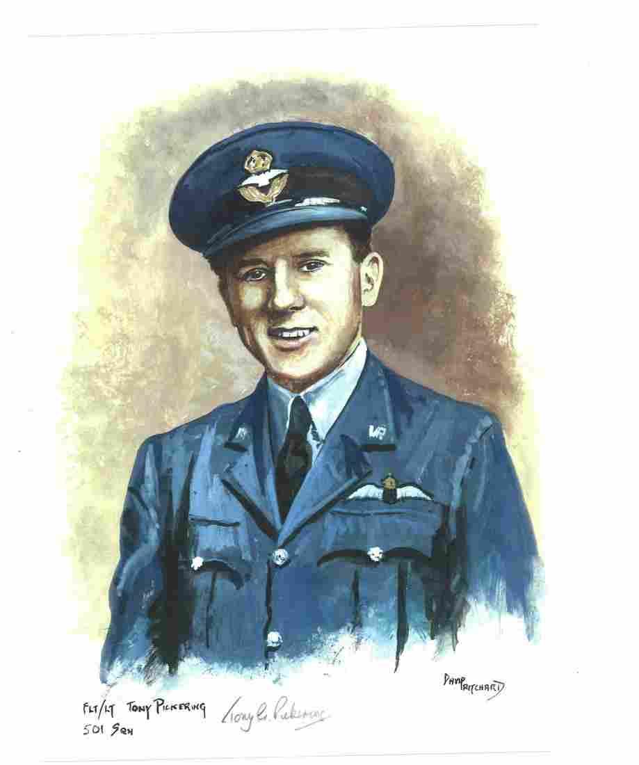 World War Two Flt Lt Tony Pickering 501 Sqn artist