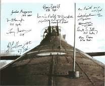 World War Two 10x8 Lancaster colour photo signed by 12