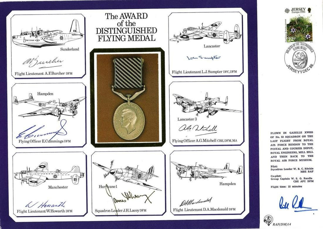WW2 multisigned DM cover APPOINTMENT to the