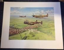 World War Two print 24x30 titled Per Ardua AD Astra