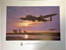 Dambusters World War Two 19x26 print titled Dambusters