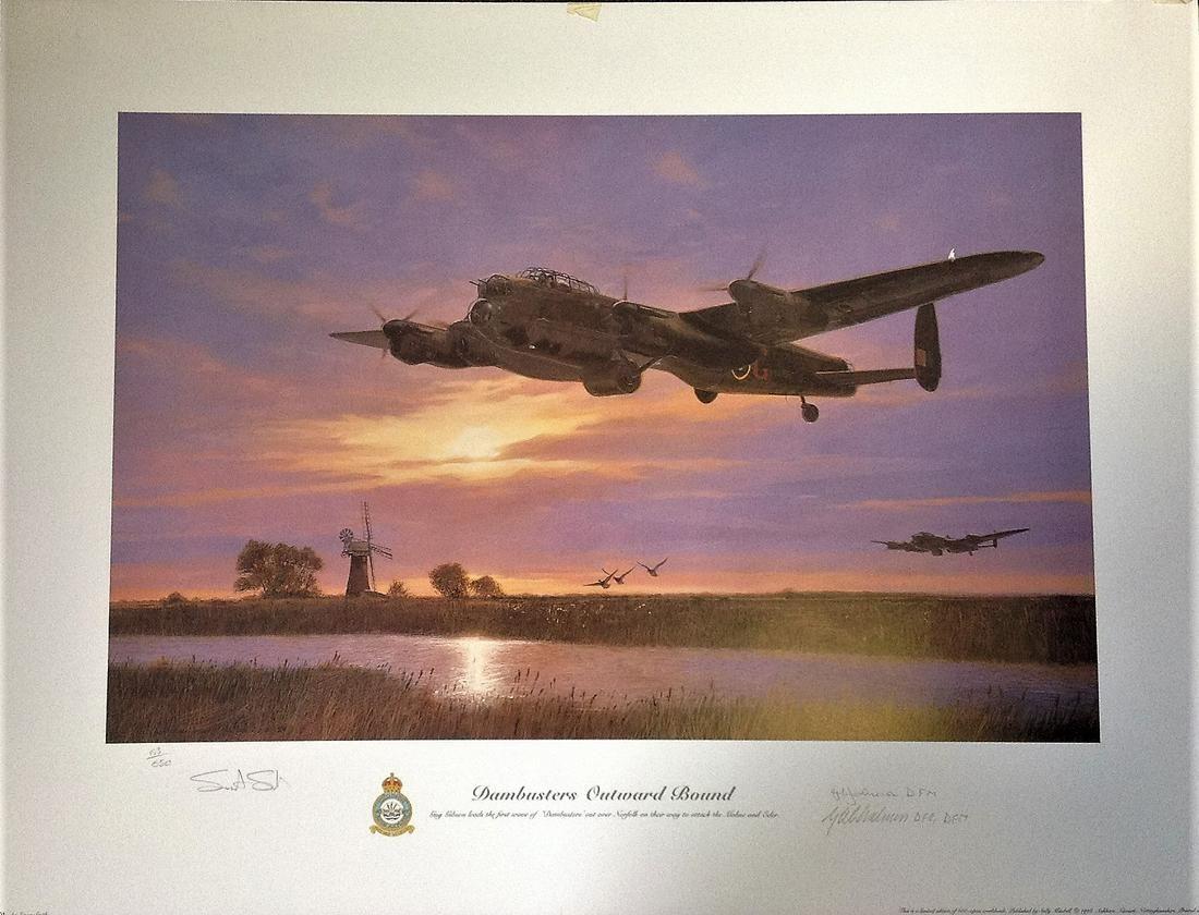 Dambusters World War Two 19x26 print titled Dambusters
