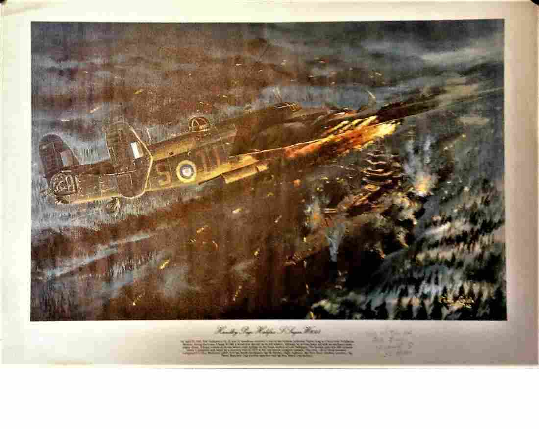 World War Two 17x24 print titled Handley Page Halifax