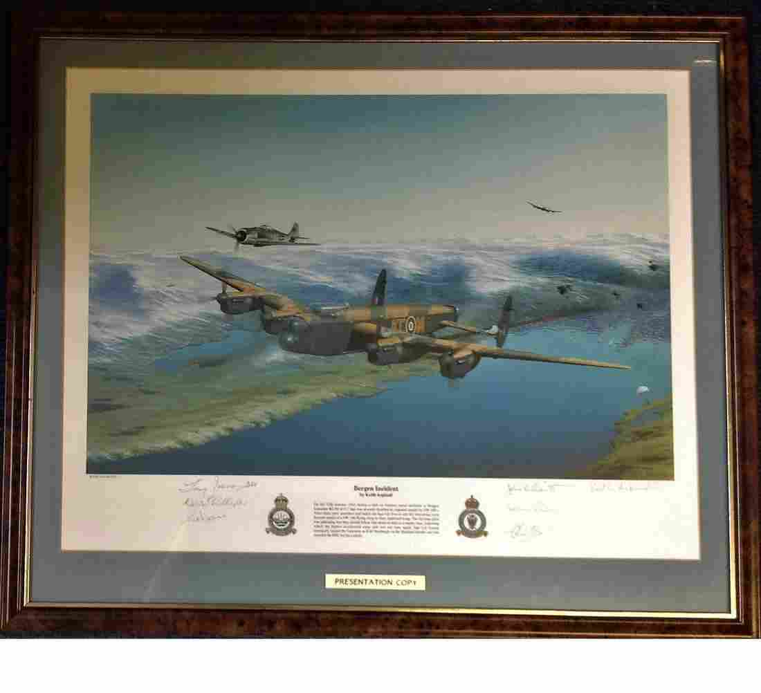 World War Two framed and mounted print 22x26 titled