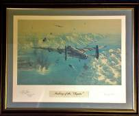 World War Two framed and mounted print 18x22 titled