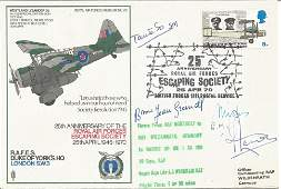 WW2 resistance leaders multi signed RAF cover. RAFES