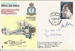 German Great War aces signed RAF WW2 cover. No 17