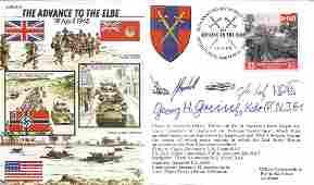 Georg Greiner WW2 Luftwaffe fighter ace signed cover.