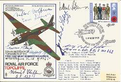 Luftwaffe aces multiple signed WW2 bomber cover. Royal
