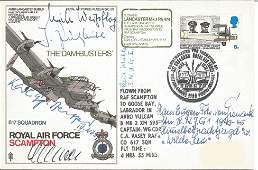 WW2 Luftwaffe ace multiple signed Lancaster cover.