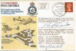 Double signed Ww2 bomber cover. No35 Squadron Royal Air