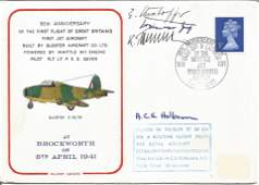 WW2 Luftwaffe aces multiple signed cover 30th