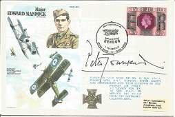 WW2 Battle of Britain fighter ace signed RAF cover