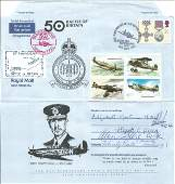 WW2 BOB fighter aces GCs multiple signed. 50th