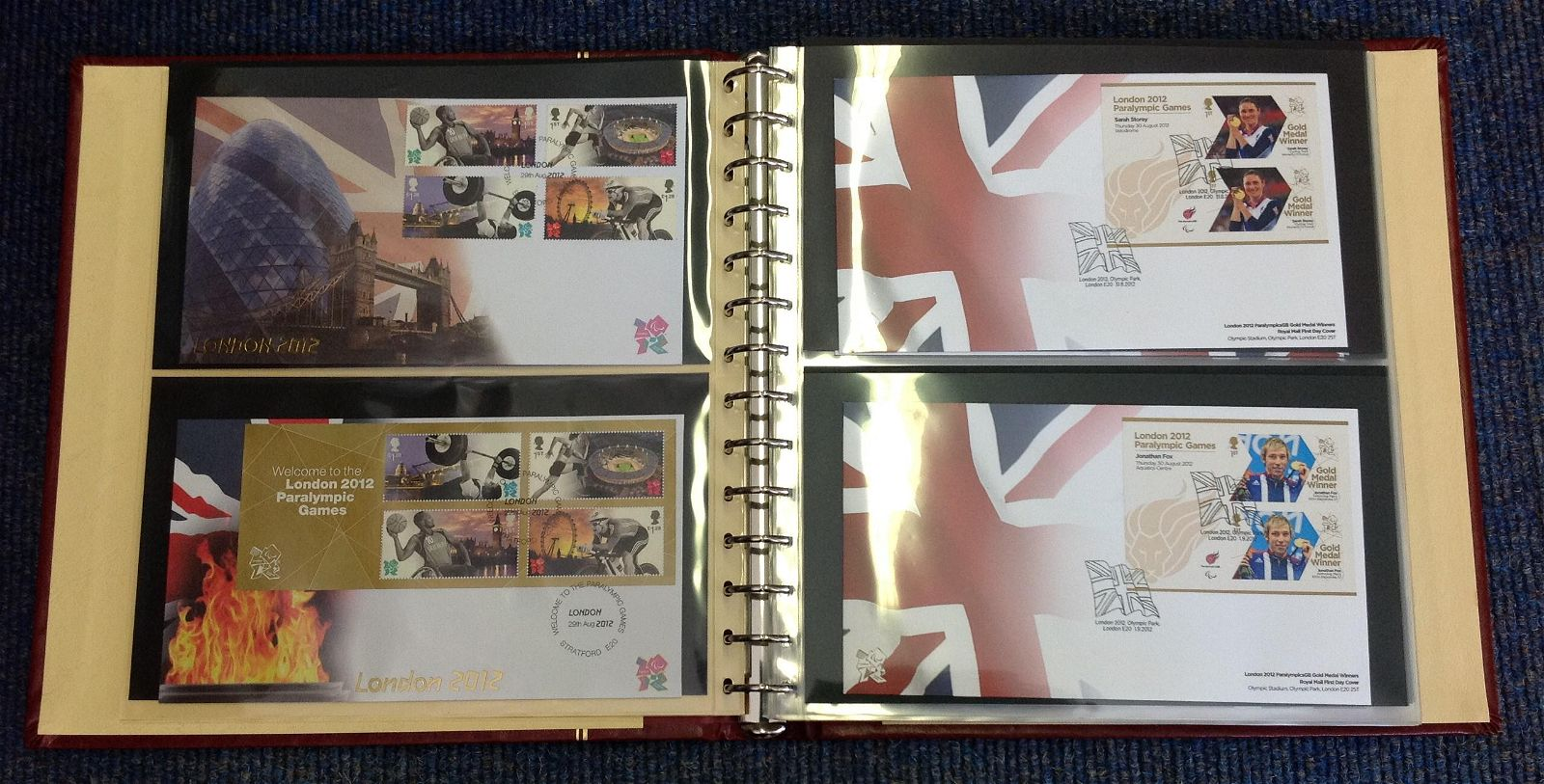 2012 London Paralympics FDC collection in Red Album