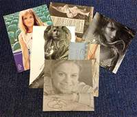 Tennis signed collection 6 items mainly newspaper