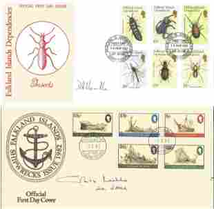 Signed Falkland Islands cover collection. 4 covers.