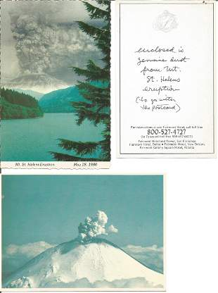 Postcard collection with genuine dust from St Helena