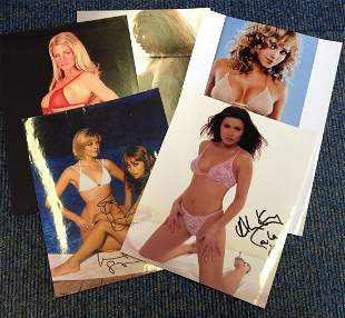 Glamour signed photo collection. Contains 5 photos.