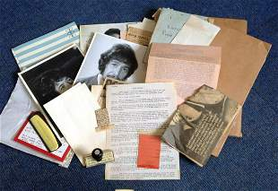 Peter Wyngard collection of memorabilia. Collected by