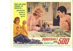 Frankie Avalon signed original lobby card for Fireball