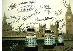 Multi signed Doctor Who 16x12colour Daleks photo