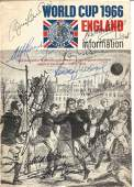 Football World Cup 1966 information booklet signed on
