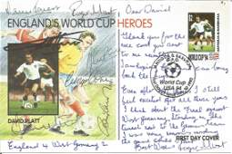 Football World Cup Heroes FDC signed by England Heroes