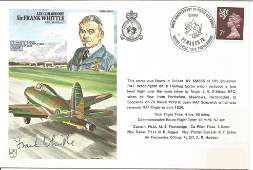 Sir Frank Whittle signed HA23 RAF cover Flown in