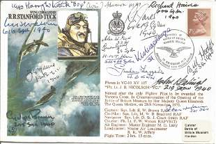 Battle of Britain pilots multiple signed RAF WW2 cover