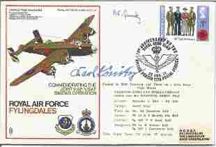 WW2 U Boat commander signed RAF H P Halifax cover