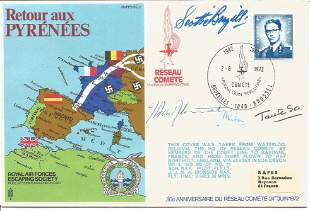 WW2 resistance leaders multiple signed cover Retour