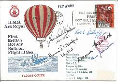 WW2 Luftwaffe aces multiple signed cover. H. M. S. Ark
