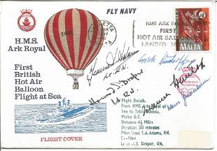 WW2 Luftwaffe aces multiple signed cover H M S Ark