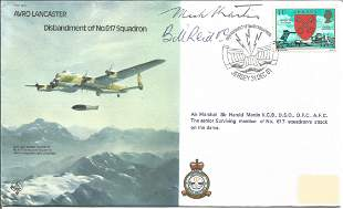 Avro Lancaster Disbandment of No 617 Squadron signed