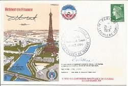 Retour en France R. A. F. E. S. signed RAF cover date