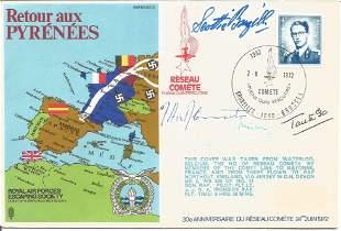 Retour aux Pyrenees RAFES signed RAF cover SC2 Taken