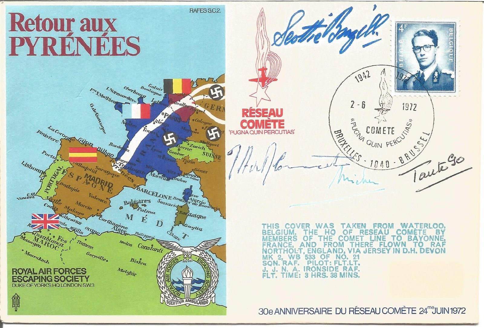 Retour aux Pyrenees RAFES signed RAF cover SC2. Taken
