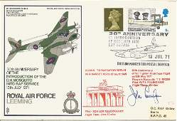 WW2 top night fighter ace signed cover. Royal Air Force