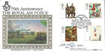 WW2 Battle of Britain ace Percy Morfill 501 Sqn signed