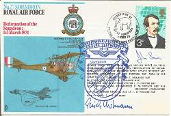 Erich Hartmann all-time top fighter ace signed 27 sqn