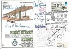 Luftwaffe aces multiple signed WW2 RAF cover, nine