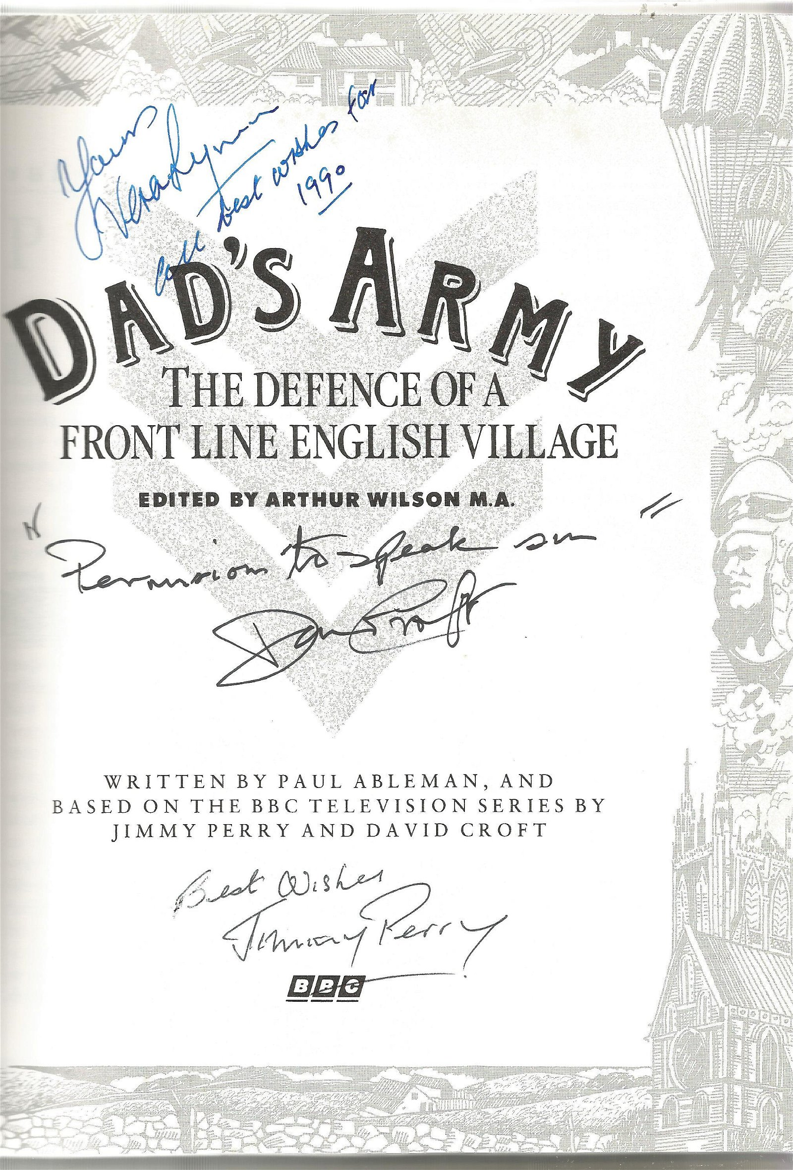 Multi signed Dad's Army - the defence of a front line