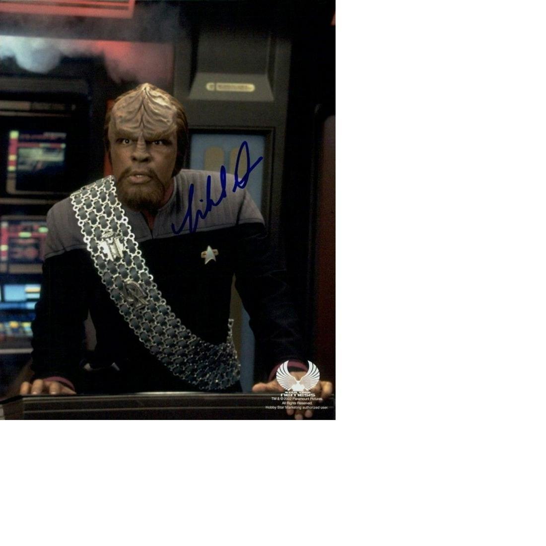 Michael Dorn Star Trek hand signed 10x8 photo. This